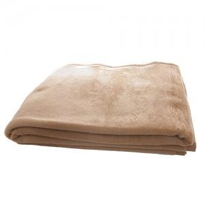 Velour tæppe, camel