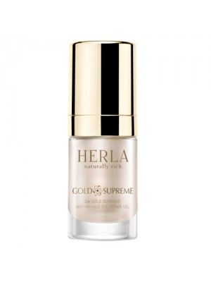 Gold Supreme 24K Gold Superior Anti-Wrinkle Eye Repair Gel, HERLA, 15 ml