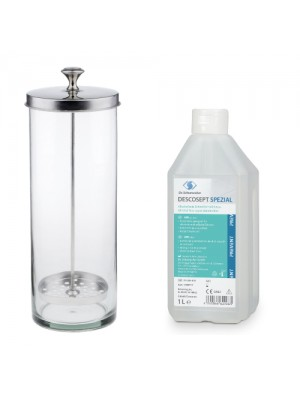 Desinfektionsglas, 1000 ml + Descosept Spezial 1000 ml