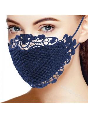 Blondemaske, blå