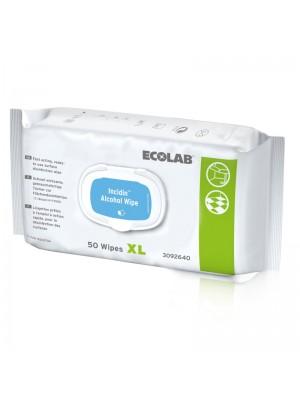 Incidin Alcohol Wipe, 50 stk XL, ECOLAB