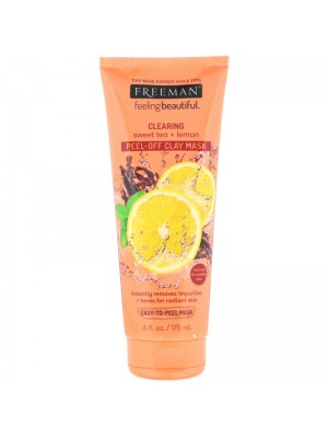 Clearing Peel-Off Clay Beauty Mask, Sweet Tea + Lemon, 175 ml, Freeman Beauty