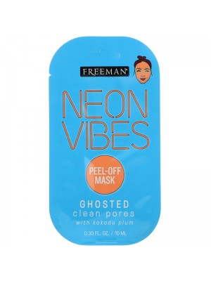 Neon Vibes, Ghosted, Clean Pores Peel-Off Beauty Mask, 10 ml, Freeman Beauty