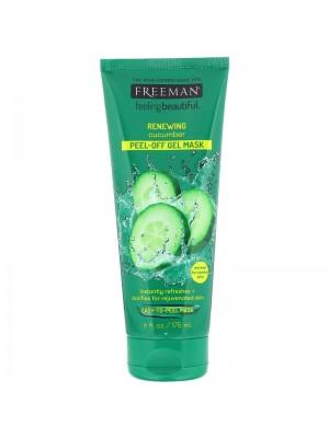 Feeling Beautiful, Renewing Peel-Off Gel Beauty Mask, Cucumber, 175 ml, Freeman Beauty