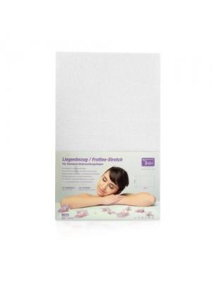 Frottelagen til massagebriks, 65x195 cm, hvidt