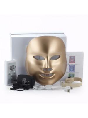 LED Lysterapi guldmaske, 7 farver