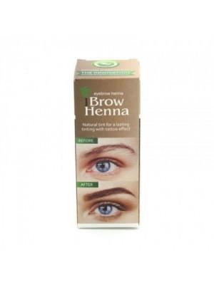 Brow Henna Brunette #1, Henna brynfarve, Neutral Brown