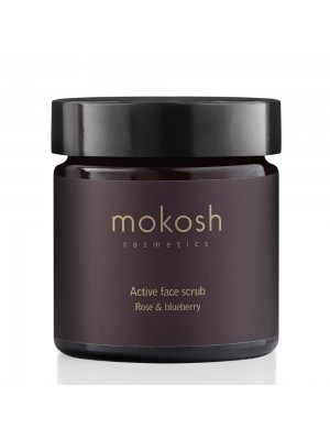 Active Face Scrub - Rose & Blueberry, 60 ml, Mokosh