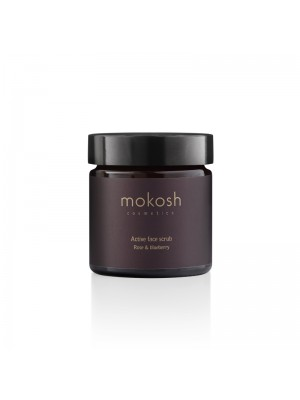 Active Face Scrub - Rose & Blueberry, 15 ml, Mokosh