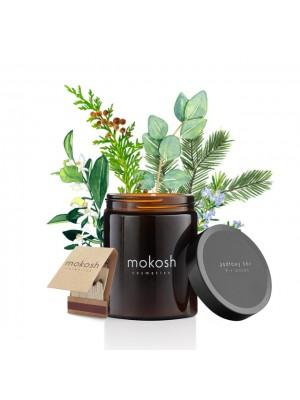 Plant Soy Candle, Fir Woods, Duftlys med duft af granskov, Mokosh