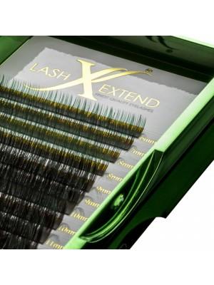 Ombre Natural Lash Black-Green, C curl mix, 6-14, 0.07 mm