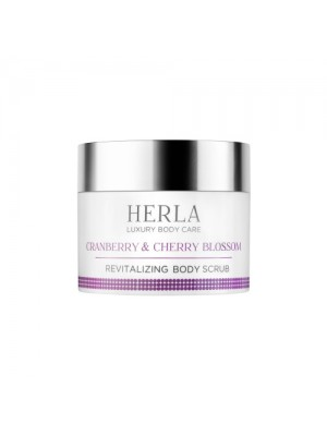 Cranberry & Cherry Revitalizing Body Scrub, HERLA Luxury Body Care, 200 ml