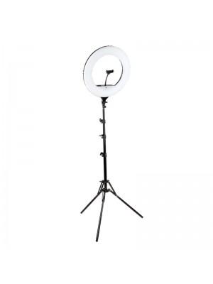 LED Ringlampe, Ring Light YQ-480B, 46 cm, inkl. stativ