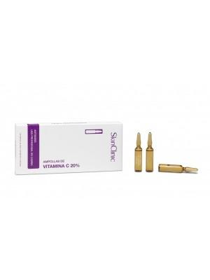 SkinClinic Vitamin-C 20% Ampoules, 10 x 5 ml