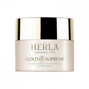 Gold Supreme 24K Gold Super Anti-Wrinkle Global Cream, HERLA, 50 ml