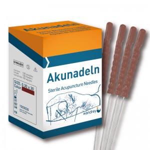 Akupunkturnnåle, Plastik, 0,30 x 30 mm, brun, 100 stk