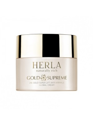 Gold Supreme 24K Gold Super Anti-Wrinkle Global Cream, HERLA, 50 ml