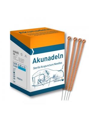 Akupunkturnnåle, Kobber, 0,25 x 25 mm, 100 stk