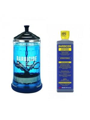 Barbicide Desinfekationsglas + Barbicide koncentrat