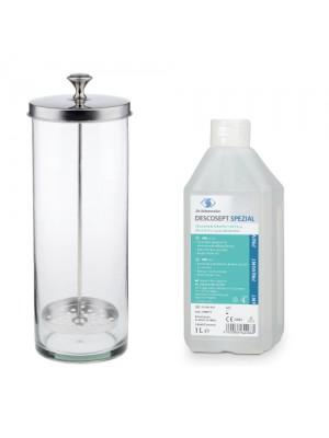 Desinfekationsglas, 1000 ml + Descosept Spezial 1000 ml