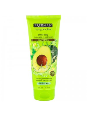 Purifying Clay Beauty Mask med Avocado og Oatmeal, 175 ml, Freeman Beauty