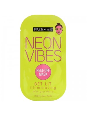 Neon Vibes, Get Lit, Illuminating Peel-Off Beauty Mask, 10 ml, Freeman Beauty