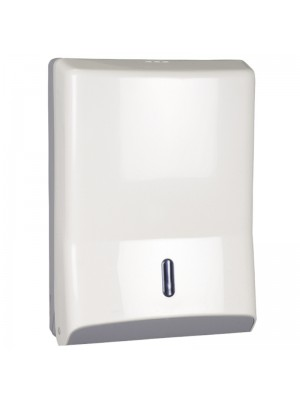 Dispenser til alle typer håndklædeark, hvid, maxi