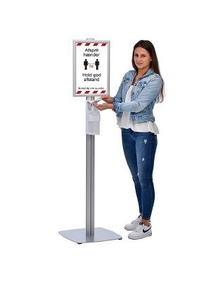 Gulvstander med håndsprit dispenser, No Touch ECO
