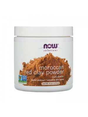 Moroccan Red Clay Powder, 170 g, Now Foods Solutions