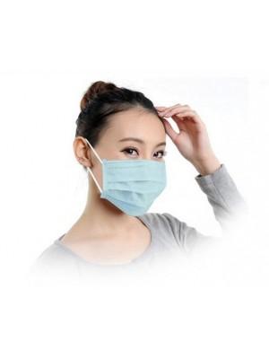 Mundbind - Latex free Surgical Mask, 10 stk, Hvid/Lyseblå