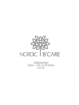 Håndsprit 85%, 500 ml, Nordic B'Care