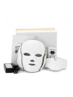 LED Lysterapi maske med hals, 7 farver