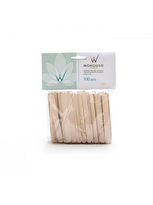 Spatel til voksbehandling, Medium, Træ, 100 stk